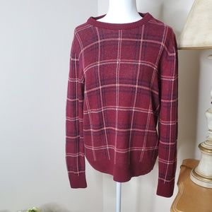 A New Day Red Plaid Sweater Size XL
